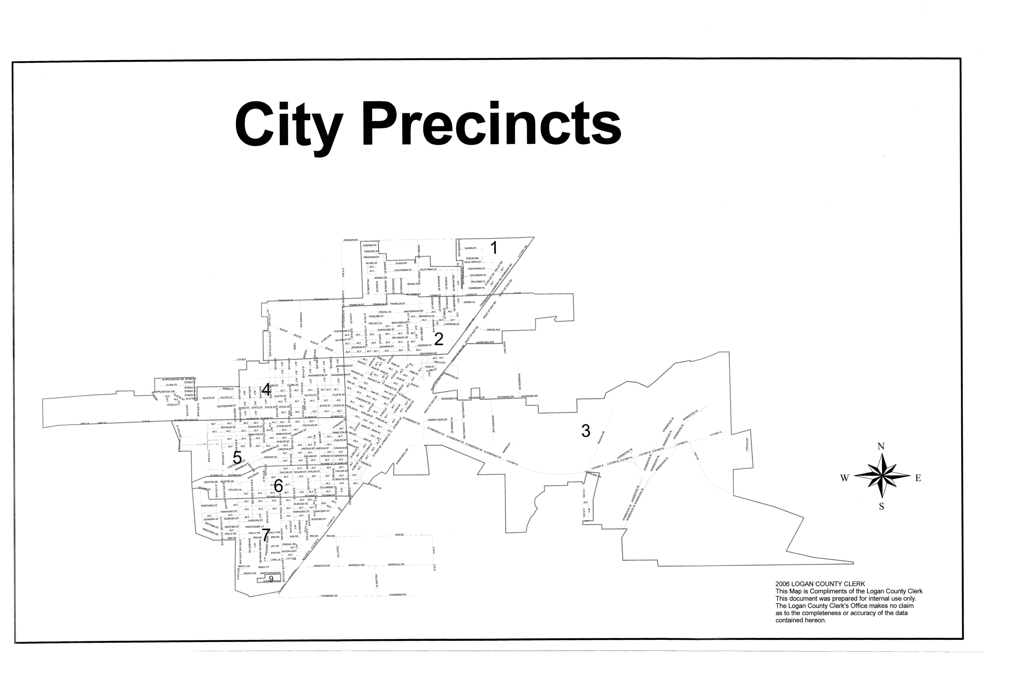 2018 Logan County Precincts in the City